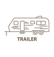 trailer in linear vector image