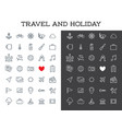 travel icons set great for all purposes like vector image vector image