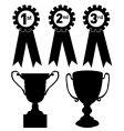trophies vector image vector image