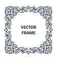 Vintage frame for your text vector image