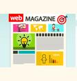 web magazine cover internet design vector image vector image