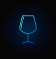 wine glass simple blue icon vector image vector image