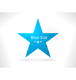 Blue abstract star shape vector image