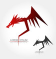 dragon silhouette logo vector image