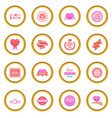 mother day icons circle vector image