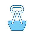 paper clip isolated icon vector image