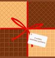 set of sweet food waffle vector image