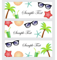A set of beach items accessories tourism travel vector image