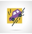 Auto accident flat icon vector image vector image