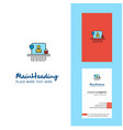 avatar creative logo and business card vertical vector image