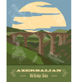 Azerbaijan landmarks Retro styled image vector image vector image