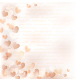 Background with beige hearts vector image vector image