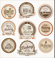 bakery retro vintage badges collection vector image vector image