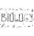 Biology Doodles vector image