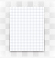 blank white paper sheet on transparent background vector image vector image