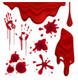 blood blots realistic set vector image