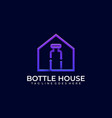 bottle house lab icon template vector image