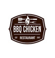 brown bbq chicken logo vector image vector image