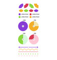 business inforgraphic design set for marketing vector image