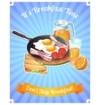 Colored Breakfast Poster vector image vector image
