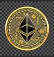 crypto currency ethereum golden symbol vector image vector image