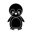 cute animal penguin standing cartoon wildlife vector image