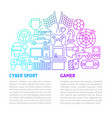 cyber game line template vector image