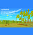 deforestation concept cutting down trees vector image