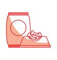 dish food mascot with bones vector image vector image