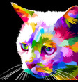 face of cat on pop art vector image vector image