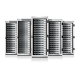 Five Servers White in Cabinets vector image vector image
