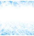 frost glass pattern Winter blue background vector image vector image