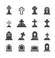 graves icon vector image vector image