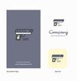 gun company logo app icon and splash page design vector image