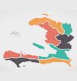 haiti map with states and modern round shapes vector image vector image