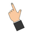 hand finger pointing up vector image