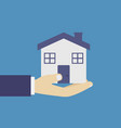 home in hand vector image