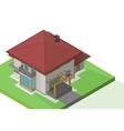 house suburban exterior isometric vector image