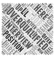 How to Overcome Being Overqualified Word Cloud vector image vector image
