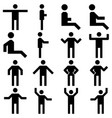 image set of posture people icons vector image vector image