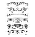 ironwork balconies vector image