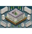 Isometric European historic building vector image
