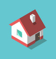 isometric house flat design vector image vector image