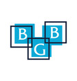 letter bgb modern icon vector image vector image