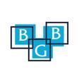 Letter bgb modern icon