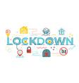lockdown word lettering vector image