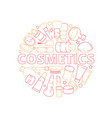 makeup symbols beauty woman cosmetic items in vector image vector image