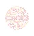 makeup symbols beauty woman cosmetic items vector image vector image