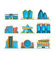 mall flat big urban store buildings hypermarket vector image vector image