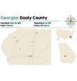 map dooly county in georgia vector image vector image